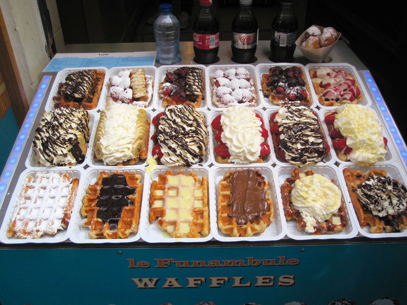 You have to have Belgian Waffles in Belgium